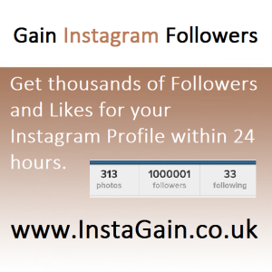 100 FREE Instagram Followers from InstaGain.co.uk