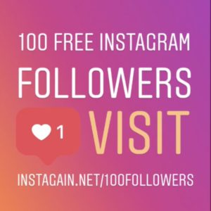 100 FREE Instagram Followers from InstaGain.net/100followers
