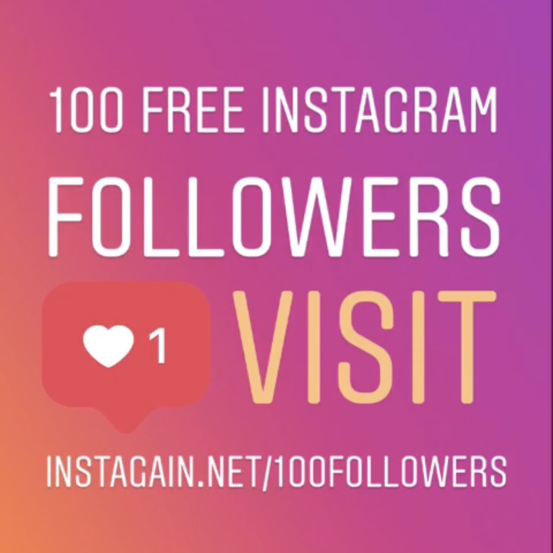 100 FREE Instagram Followers | InstaGain